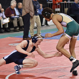 Brandon Spellman '19 Earns Top 12 Finish at State Wrestling Tournament