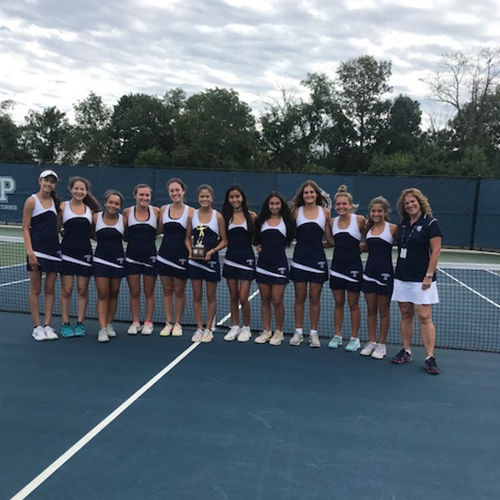 Girls' Tennis Earns 2018 Somerset County Tournament Win