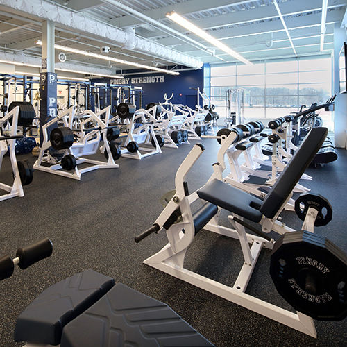 Returning College Athletes Keep Fit in the Greig Center