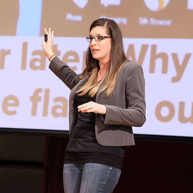 From Warrior to Amazon: Becky Strickland '98 Delivers Career Day Keynote