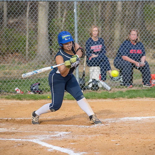 Angelina Mayers '19 Records Her 100th Career Hit