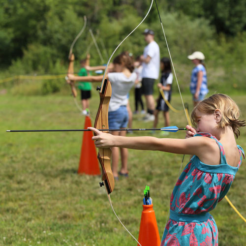 Children in archery