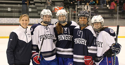 d) Pingry Ice Hockey - Long Sleeve T-Shirt