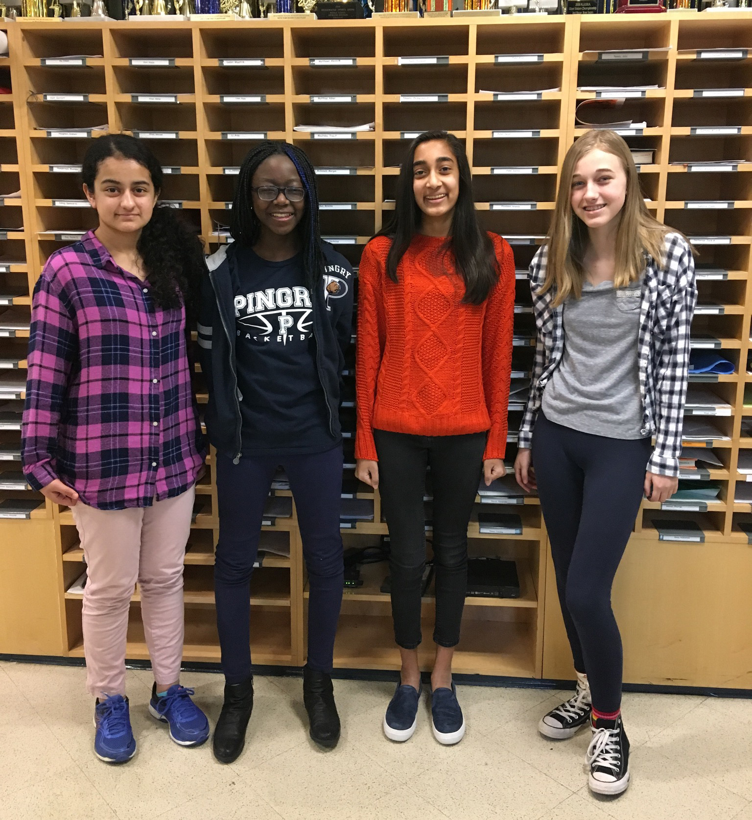 Four Middle School Girls Selected to Intermediate Region